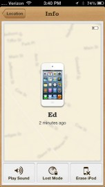 Turn on Find My iPhone.