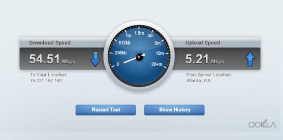 linksys wired speed test