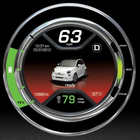 Fiat 500e gauge
