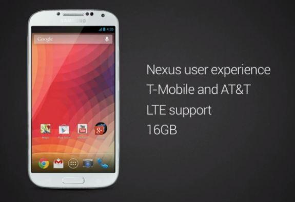 The Galaxy S4 Nexus is on the way.