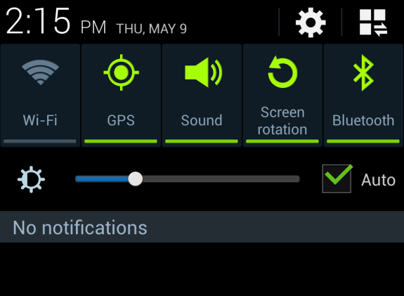 The Galaxy S4 screen is the biggest battery hog.