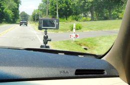hitcase mounted on hood of car