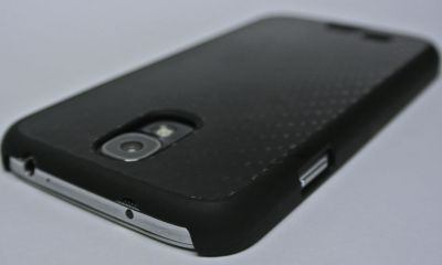 cygnett black carbon fibre case for samsung galaxy s4 back