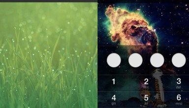 This shows one example of how the iOS 7 lock screen could look different.