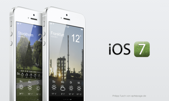This concept for an iOS 7 weather app looks nicer than iOS 6 and offers faster access to more detailed weather info.