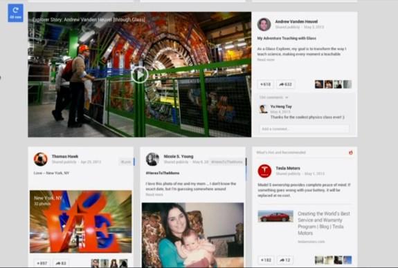 New Google+ layout
