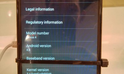 Android 4.3 running on a Neus 4 in a new video that appears to show the latest version of Android.