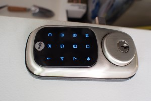 Digital door lock keypad