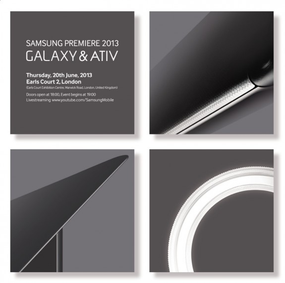 A Samsung event on June 20th will likely welcome in the Galaxy S4 mini, Galaxy S4 Zoom and Galaxy S4 Active.