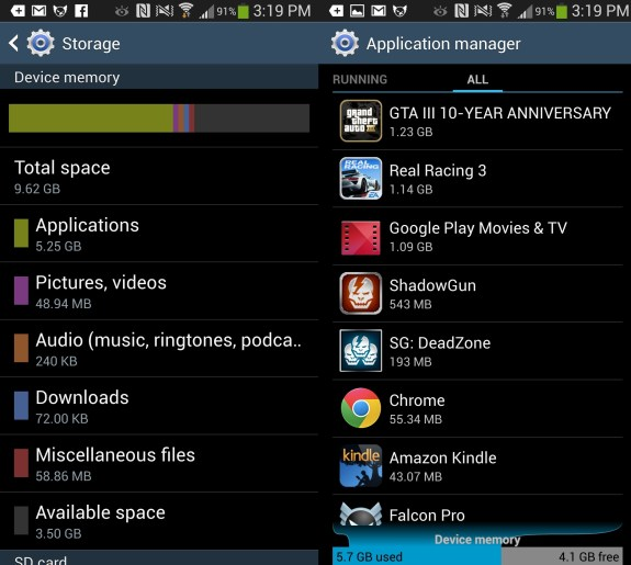 The Galaxy S4 storage limitations could provoke carriers into offering larger Galaxy Note 3 variants.