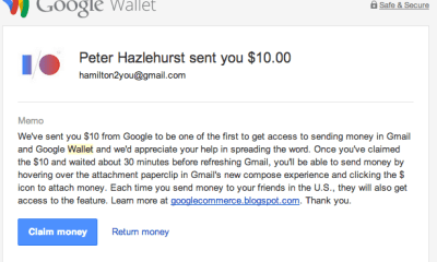 With Send Money in Gmail, users can send money with Google Wallet right from Gmail.