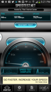 Verizon LTE is fast and easy to find.