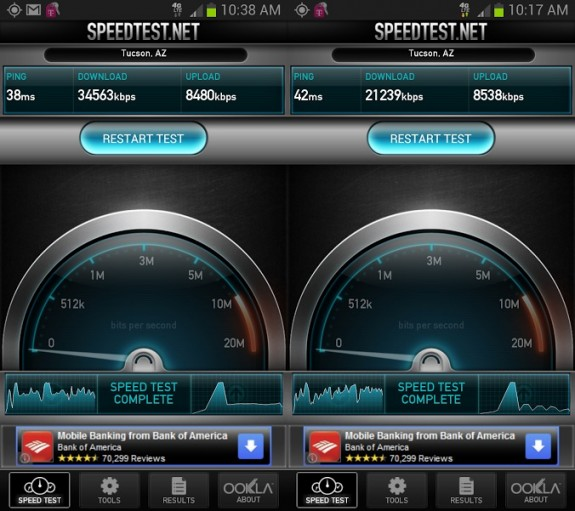 T-Mobile's 4G LTE network is much faster than its 3G network.