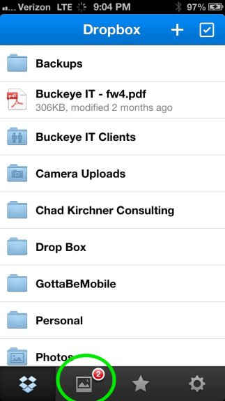 iOS Camera Upload Dropbox