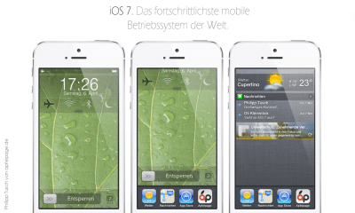 A new iOS 7 lock screen concept helps users get more doen without unlocking the iPhone.
