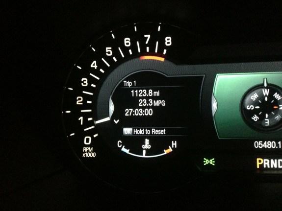 Lincoln MKZ dash