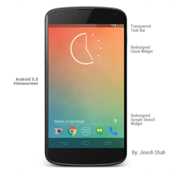 Android 5.0 Key Lime Pie is rumored for later this year. This is a concept.