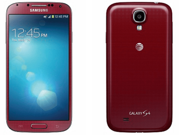 The red Galaxy S4 is now available on AT&T.