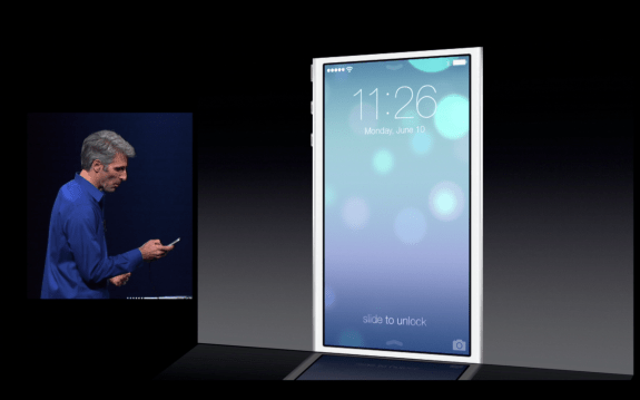 The new look for iOS 7 moves when the iPhone moves.