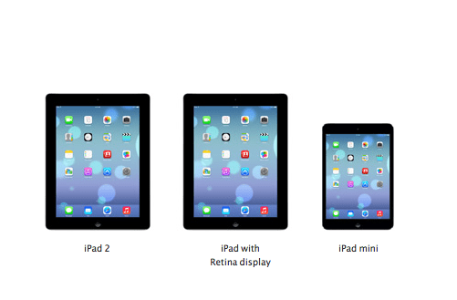 Apple has teased iOS 7 for the iPad and iPad mini.