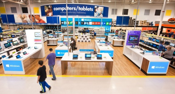 The Windows Store inside of a Best Buy.