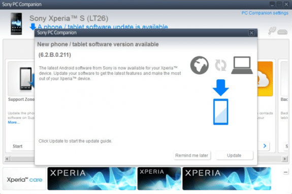 The Xperia S has received what is believed to be a Jelly Bean bug fix update.