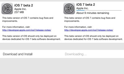 The iOS 7 beta 2 download is available now with un-announced features and fixes.