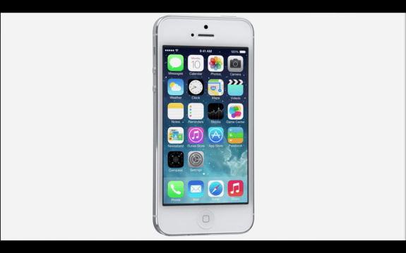 This is iOS 7.