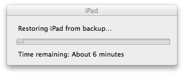 ios7 ipad beta restore from Backup