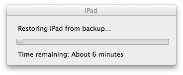 ios7 ipad beta restore from Backup