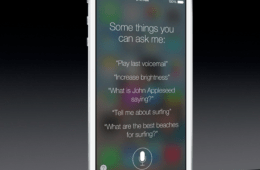 The new Siri included in iOS 7, courtesy of The Verge.