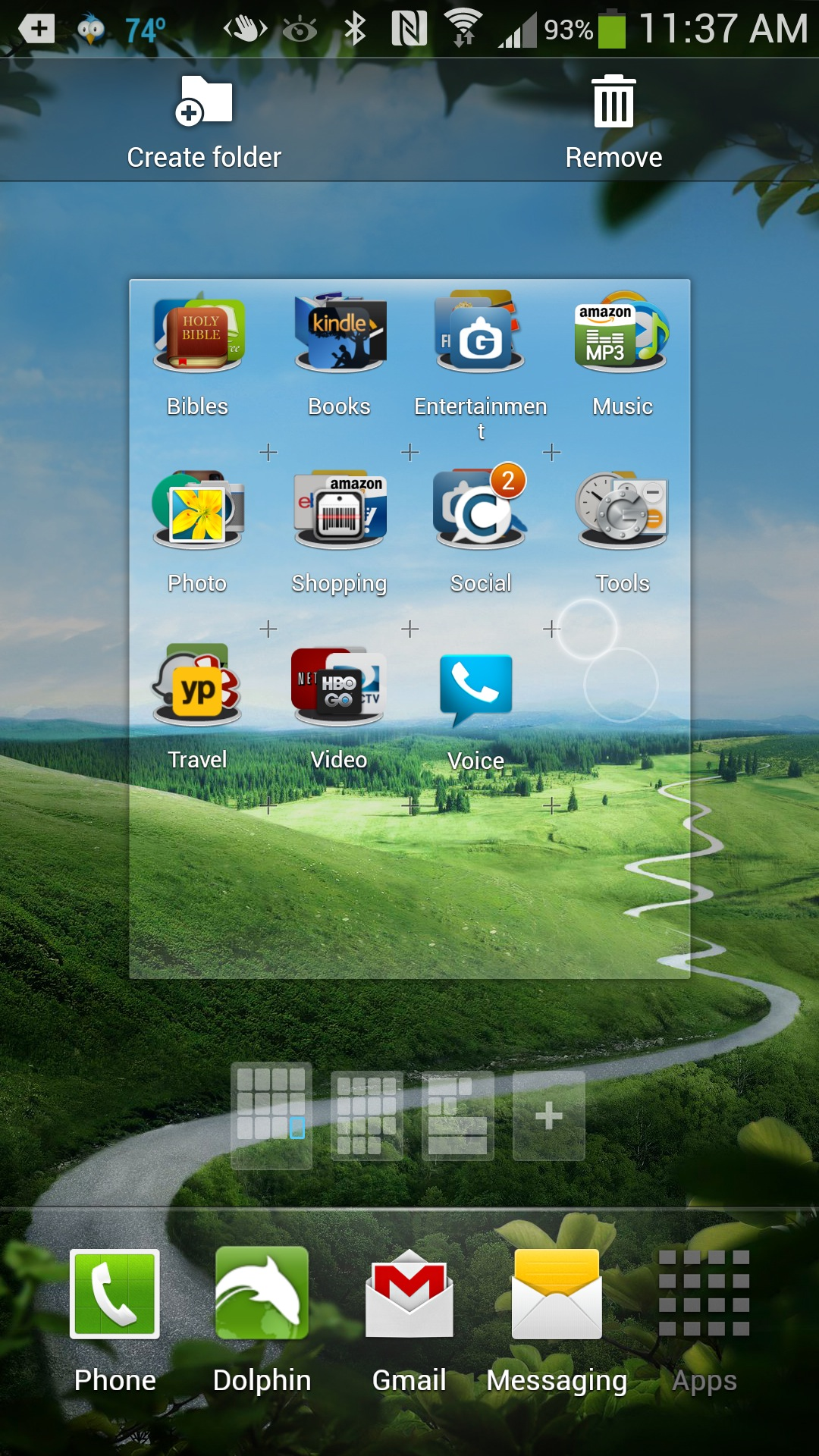 How to Arrange App Icons on the Samsung Galaxy S4