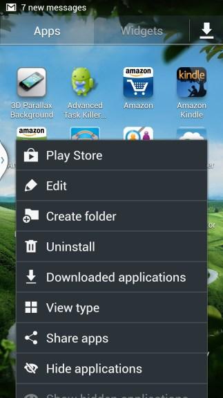 app drawer menu