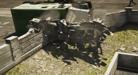 These destructible environments in GTA 5 look amazing.