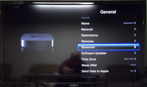 apple tv bluetooth settings