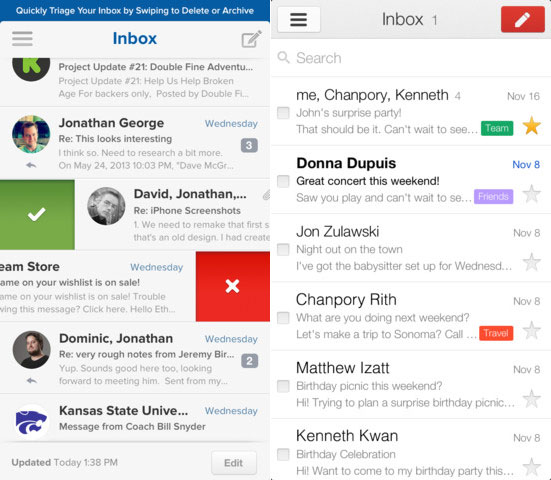 Replace Mail on the iPhone with Evomail or Gmail.