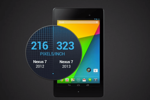 New Nexus 7 Display