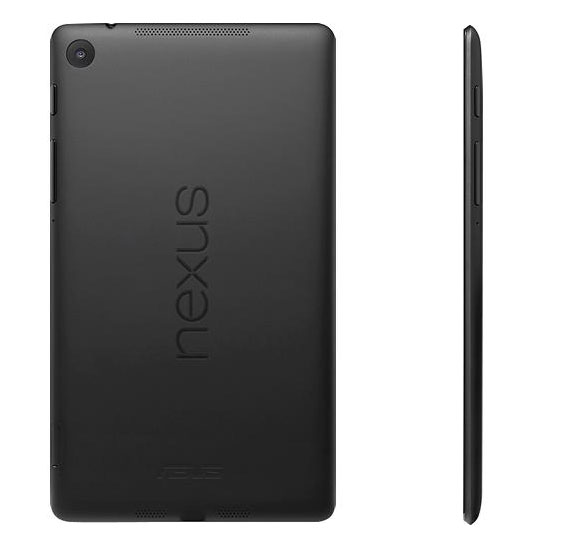 The Nexus 7 2 on the other hand is made of plastic.