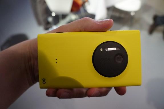 The rear camera sensor on the Nokia Lumia 1020
