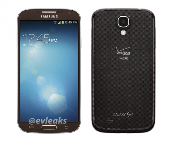 The brown Samsung Galaxy S4 is headed to Verizon according to a new leak and this press photo.