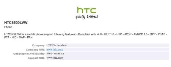 The alleged Verizon HTC One at Bluetooth SIG.