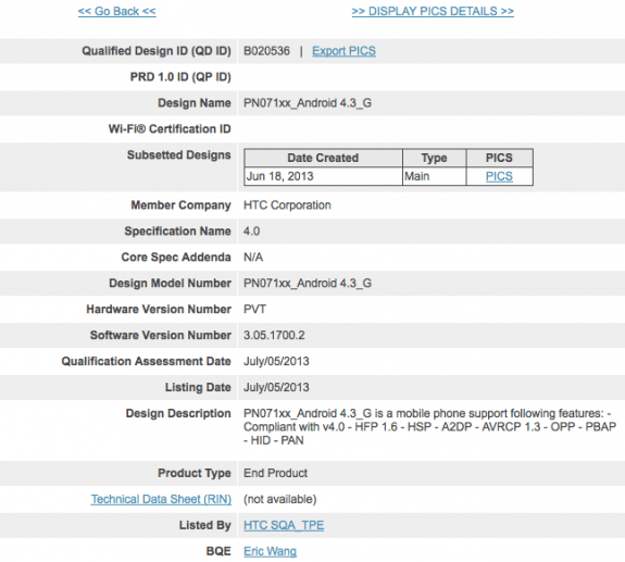 The HTC One Google Edition should see Android 4.3 soon.