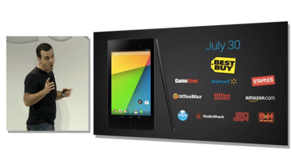 The new Nexus 7 will arrive on July 30th.