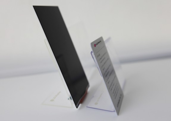 side view of LG's new super thin HD display.