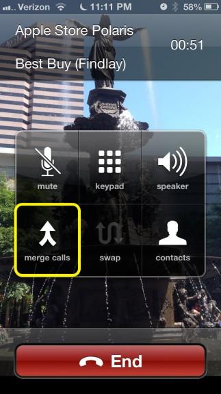 Tap Merge Calls