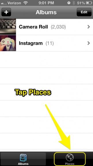 Tap Places