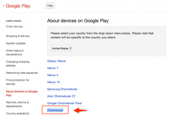 A screenshot of the Chromecast entry in the Google Play Store.