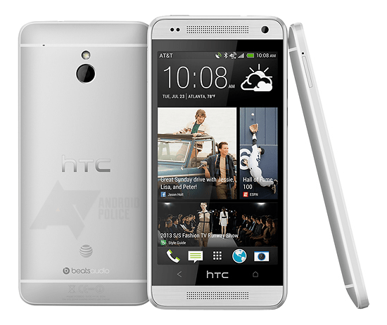 Renders of the HTC One Mini on AT&T sent to AndroidPolice.