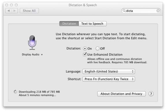In iOS 7 we could see offline dictation, or as it is known in OS X Mavericks Enhanced Dictation, which would offer live feedback for words.