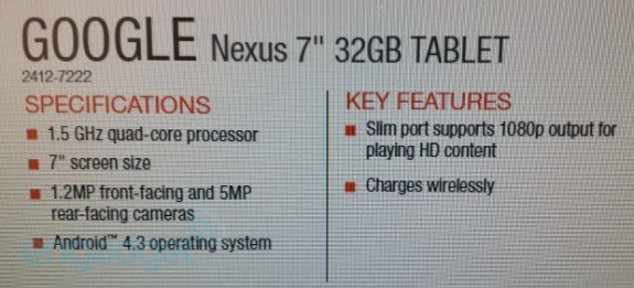 The Nexus 7 2 will evidently come with these features on board.